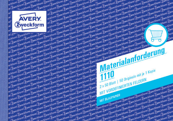 Avery Zweckform 1110 Materialanforderung, A5, mit