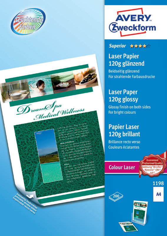 Avery Zweckform 1198 Superior Colour Laser Papier