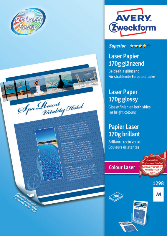 Avery Zweckform 1298 Superior Colour Laser Papier