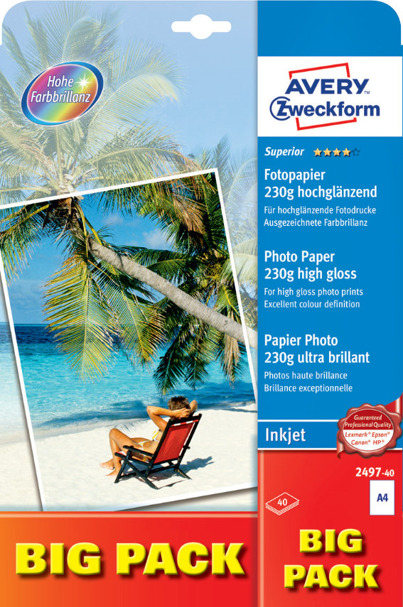 Avery Zweckform 2497-40 Superior Inkjet