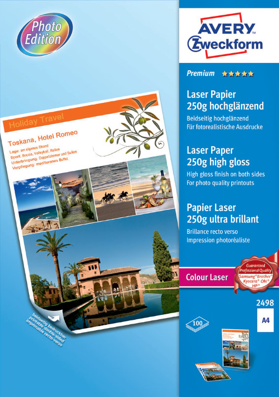 Avery Zweckform 2498 Premium Colour Laser Papier,