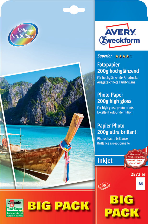 Avery Zweckform 2572-50 Superior Inkjet