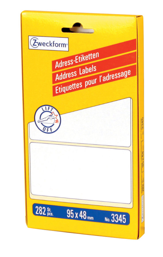 Avery Zweckform 3345 Adress-Etiketten, 95 x 48 mm
