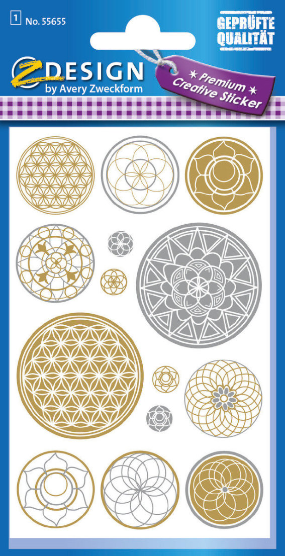 Z-Design 55655, Metallic Stickers, Lebensblume, 1