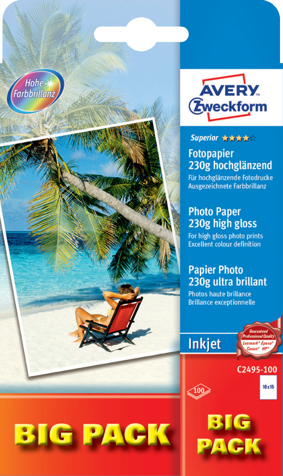 Avery Zweckform C2495-100 Superior Inkjet