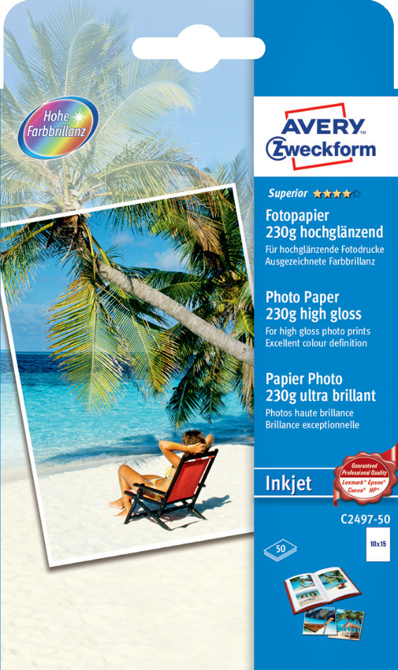 Avery Zweckform C2497-50 Superior Inkjet
