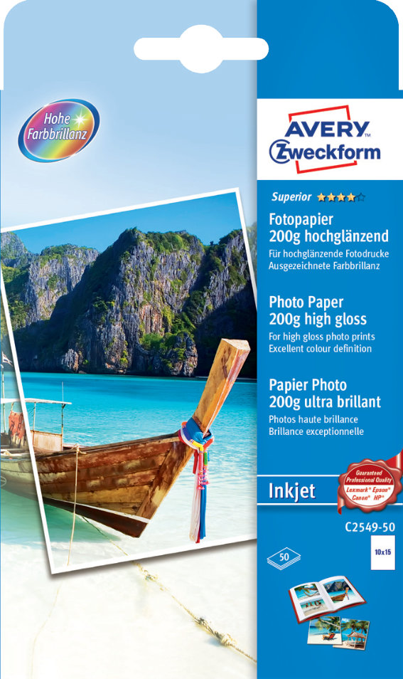 Avery Zweckform C2549-50 Superior Inkjet