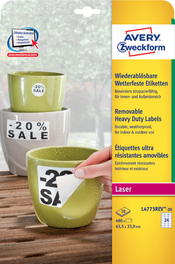 Avery Zweckform L4773REV-20 Wetterfeste