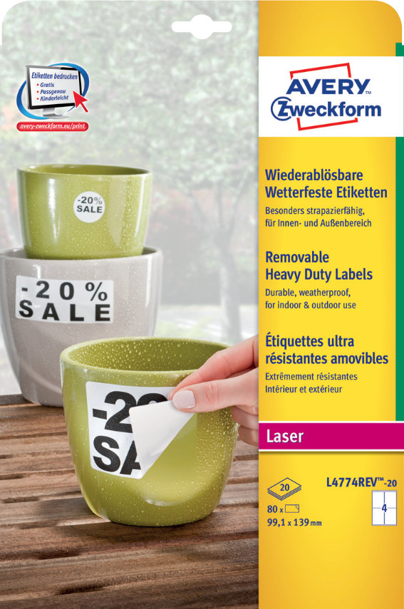 Avery Zweckform L4774REV-20 Wetterfeste