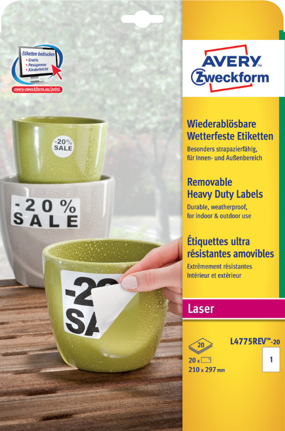 Avery Zweckform L4775REV-20 Wetterfeste