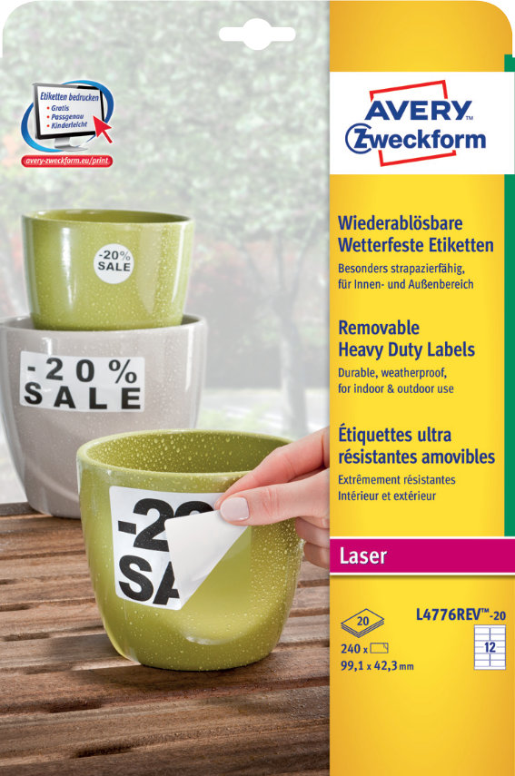 Avery Zweckform L4776REV-20 Wetterfeste