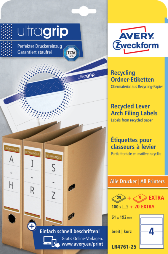 Avery Zweckform LR4761-25 Recycling