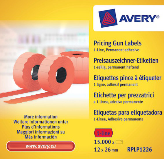 Avery Zweckform RPLP1226 Etiketten, 26 x 12 mm,
