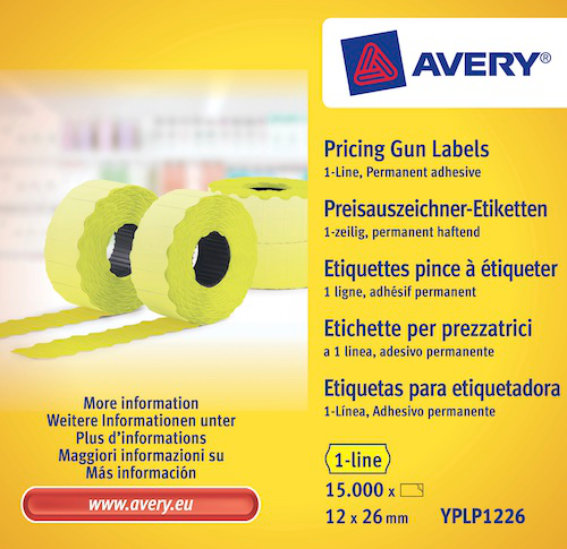 Avery Zweckform YPLP1226 Etiketten, 26 x 12 mm,