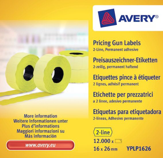 Avery Zweckform YPLP1626 Etiketten, 26 x 16 mm,