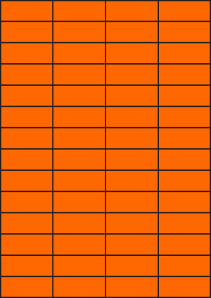 ENDI-HAFT Etiketten, 52,5x21,2 mm, leucht-orange