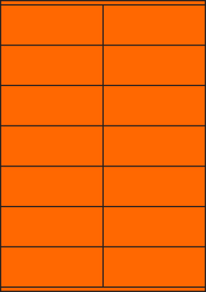 ENDI-HAFT Etiketten, 105x41 mm,  leucht-orange