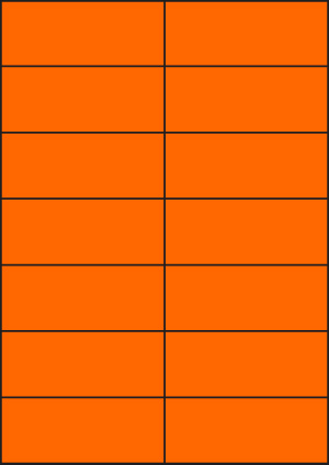 ENDI-HAFT Etiketten, 105x42,3 mm,  leucht-orange