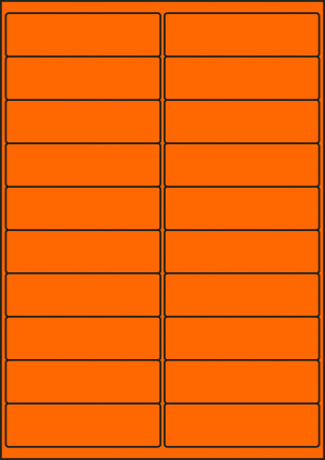 ENDI-HAFT Etiketten, 100x28 mm, leucht-orange