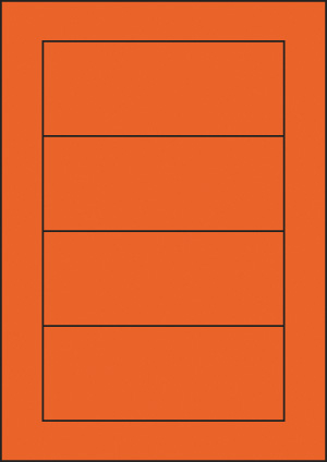 ENDI-HAFT Etiketten, 155x61 mm, leucht-orange
