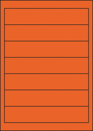 ENDI-HAFT Etiketten, 190x37 mm, leucht-orange