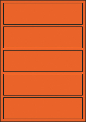 ENDI-HAFT Etiketten, 193x52 mm, leucht-orange