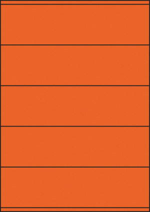 ENDI-HAFT Etiketten, 210x57 mm, leucht-orange