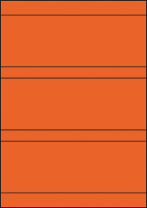 ENDI-HAFT Etiketten, 210x74 mm, leucht-orange