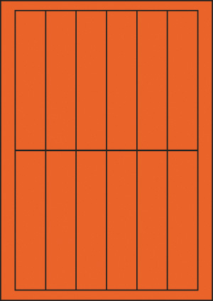 ENDI-HAFT Etiketten, 30x138 mm, leucht-orange
