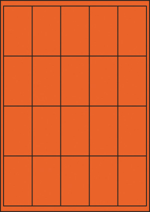 ENDI-HAFT Etiketten, 40x70 mm, leucht-orange