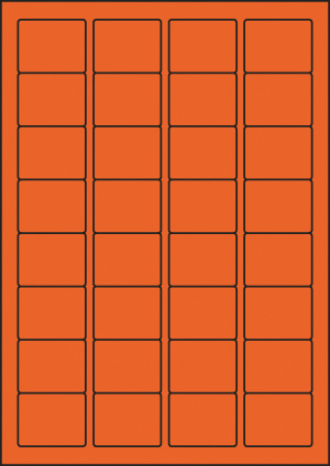 ENDI-HAFT Etiketten, 43x34 mm, leucht-orange