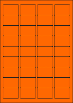 ENDI-HAFT Etiketten, 45x30 mm, leucht-orange