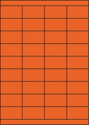 ENDI-HAFT Etiketten, 52,5x30 mm, leucht-orange
