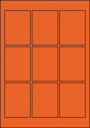 ENDI-HAFT Etiketten, 60x80 mm, leucht-orange