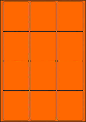 ENDI-HAFT Etiketten, 63,5x72 mm, leucht-orange