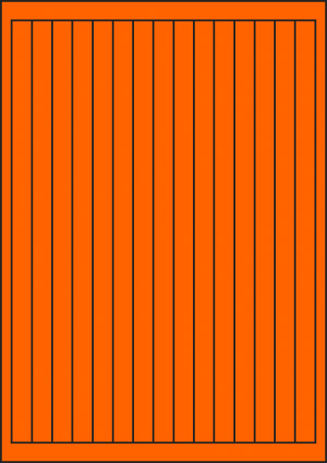 ENDI-HAFT Etiketten, 13x271 mm, leucht-orange