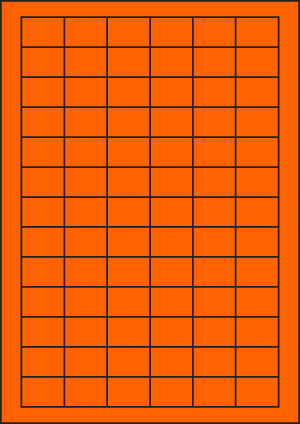 ENDI-HAFT Etiketten, 30x21 mm, leucht-orange
