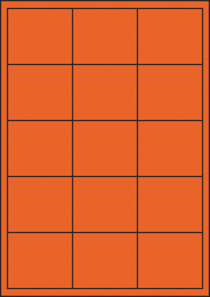 ENDI-HAFT Etiketten, 65x56 mm, leucht-orange