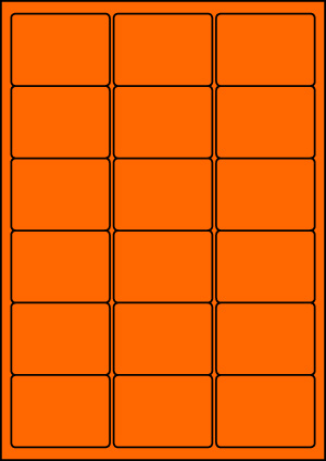 ENDI-HAFT Etiketten, 63,5x46,6 mm, leucht-orange