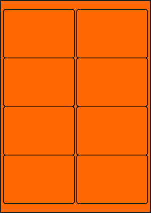 ENDI-HAFT Etiketten, 99,1x67,7 mm, leucht-orange