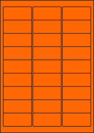 ENDI-HAFT Etiketten, 63,5x29,67 mm, leucht-orange