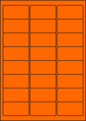 ENDI-HAFT Etiketten, 63,5x33,9 mm,  leucht-orange