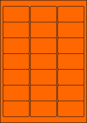 ENDI-HAFT Etiketten, 63,5x38,1 mm, leucht-orange