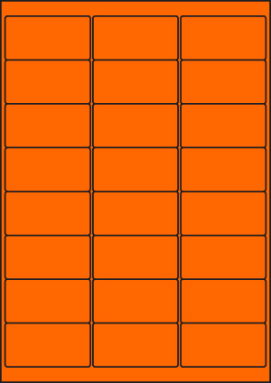 ENDI-HAFT Etiketten, 66x34 mm, leucht-orange