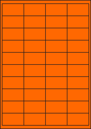 ENDI-HAFT Etiketten, 50x28 mm, leucht-orange