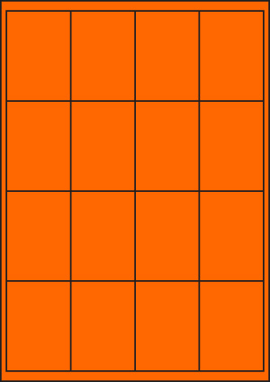 ENDI-HAFT Etiketten, 50x70 mm, leucht-orange
