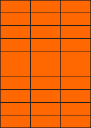 ENDI-HAFT Etiketten, 70x29,7 mm, leucht-orange