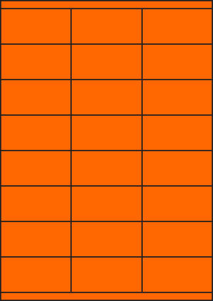 ENDI-HAFT Etiketten, 70x35 mm,  leucht-orange