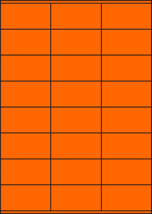 ENDI-HAFT Etiketten, 70x36 mm, leucht-orange