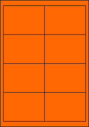 ENDI-HAFT Etiketten, 97x67,7 mm, leucht-orange